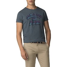 Image of Ben Sherman Australia TEAL HEART OF SOUL T-SHIRT