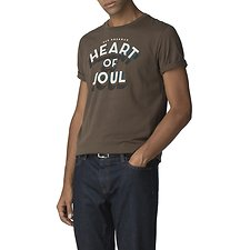 Image of Ben Sherman Australia OLIVE HEART OF SOUL T-SHIRT