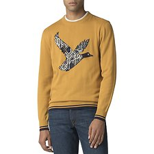 Image of Ben Sherman Australia YELLOW GEO DUCK KNIT