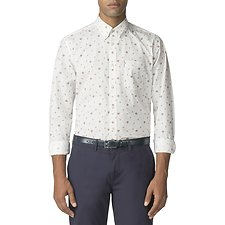 Image of Ben Sherman Australia OFF WHITE ROSE SCATTER SHIRT