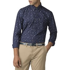 Image of Ben Sherman Australia NAVY ROSE SCATTER SHIRT