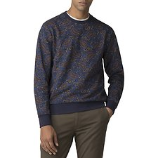 Image of Ben Sherman Australia  PAISLEY PRINTED SWEATER