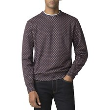 Image of Ben Sherman Australia BLUE GEO PRINTED SWEATER
