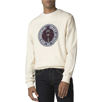 Image of Ben Sherman Australia  FLOCKED ROSE EMBLEM SWEATER