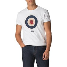 Image of Ben Sherman Australia WHITE BEN SHERMAN X KEITH MOON TARGET T-SHIRT