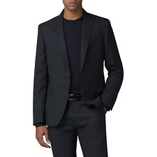Image of Ben Sherman Australia NAVY DEEP BLUE TEXTURED CHECK JACKET