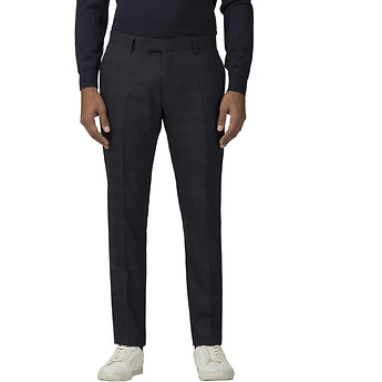 Image of Ben Sherman Australia  DEEP BLUE TEXTURED CHECK TROUSER