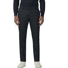 Image of Ben Sherman Australia NAVY DEEP BLUE TEXTURED CHECK TROUSER