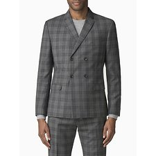 Image of Ben Sherman Australia  COOL GREY/BLUE CHECK JACKET