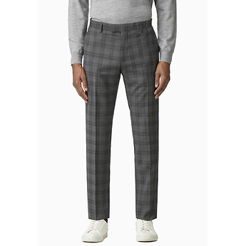 Image of Ben Sherman Australia  COOL GREY/BLUE CHECK TROUSER