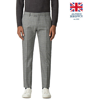 Image of Ben Sherman Australia  GREY POW MOD CHECK TROUSER