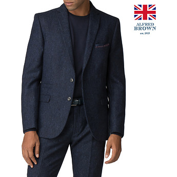 Image of Ben Sherman Australia  BRITISH BLACKENED BLUE DONEGAL JACKET