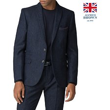 Image of Ben Sherman Australia BLUE BRITISH BLACKENED BLUE DONEGAL JACKET