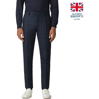 Image of Ben Sherman Australia  BRITISH BLACKENED BLUE DONEGAL TROUSER