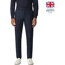Image of Ben Sherman Australia BLUE BRITISH BLACKENED BLUE DONEGAL TROUSER