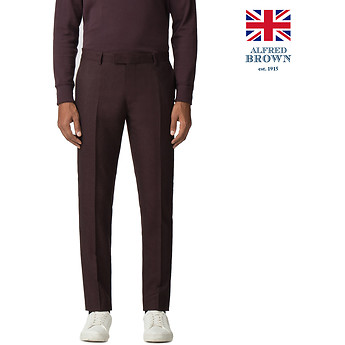 Image of Ben Sherman Australia  BRITISH VINTAGE MULBERRY FLANNEL TROUSER