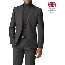 Image of Ben Sherman Australia CHARCOAL BRITISH CREPE WEAVE GINGHAM JACKET