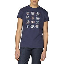 Image of Ben Sherman Australia NAVY IVY BADGES T-SHIRT