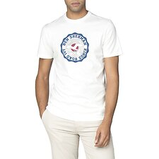 Image of Ben Sherman Australia WHITE KINGS ROAD TARGET T-SHIRT