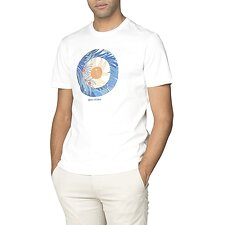 Image of Ben Sherman Australia WHITE TROPICAL TARGET T-SHIRT