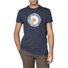 Image of Ben Sherman Australia DARK NAVY TROPICAL TARGET T-SHIRT