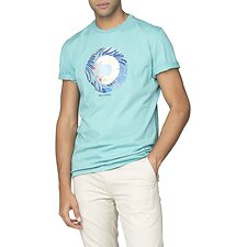 Image of Ben Sherman Australia TURQUOISE TROPICAL TARGET T-SHIRT