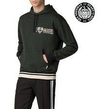 Image of Ben Sherman Australia DARK GREEN LONDON RUNWAY MERCERISED SWEAT HOODY