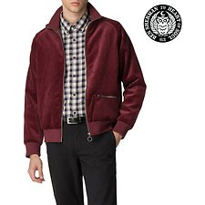 Image of Ben Sherman Australia BURGUNDY LONDON RUNWAY CORD / FAUX SUEDE TRACK TOP