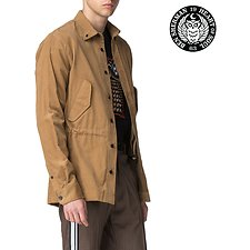 Image of Ben Sherman Australia BEIGE LONDON RUNWAY CORDUROY FISHTAIL SHIRT
