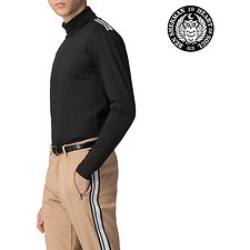 Image of Ben Sherman Australia BLACK LONDON RUNWAY ZIP TURLENECK