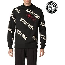 Image of Ben Sherman Australia BLACK LONDON RUNWAY NIGHT OWL JACQUARD KNIT
