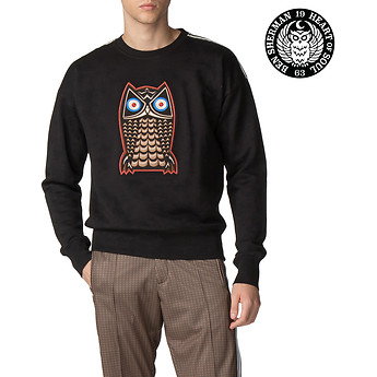 Image of Ben Sherman Australia  LONDON RUNWAY NIGHT OWL BADGE SWEAT