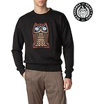 Image of Ben Sherman Australia BLACK LONDON RUNWAY NIGHT OWL BADGE SWEAT