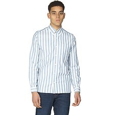 Image of Ben Sherman Australia JAZZY BLUE OXFORD IVY STRIPE SHIRT