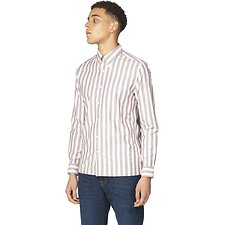 Image of Ben Sherman Australia LIGHT PINK OXFORD IVY STRIPE SHIRT