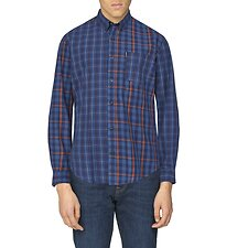 Image of Ben Sherman Australia DARK NAVY MIXED CHECK SHIRT