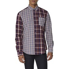 Image of Ben Sherman Australia LT PINK MIXED CHECK SHIRT