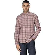 Image of Ben Sherman Australia ROSE SLUB STRIPE CHECK SHIRT
