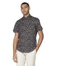 Image of Ben Sherman Australia BLACK SCATTERED SCRATCH GEO SHIRT
