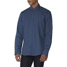 Image of Ben Sherman Australia DARK BLUE SCATTERED GEO SHIRT