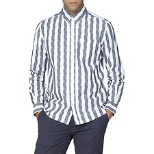 Image of Ben Sherman Australia DARK NAVY ARCHIVE DEERFIELD SHIRT