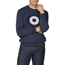 Image of Ben Sherman Australia DARK NAVY APPLIQUE TARGET SWEAT