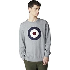 Image of Ben Sherman Australia GREY APPLIQUE TARGET SWEAT