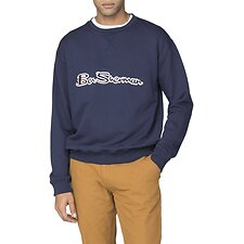 Image of Ben Sherman Australia NAVY ARCHIVE LOGO CARRIER SWEAT