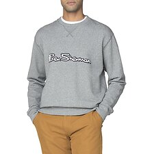 Image of Ben Sherman Australia GREY ARCHIVE LOGO CARRIER SWEAT