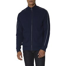 Image of Ben Sherman Australia NAVY HONEYCOMB KNITTED TRACK TOP