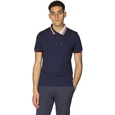 Image of Ben Sherman Australia NAVY TIPPED INTEREST PIQUE POLO