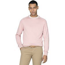 Image of Ben Sherman Australia LIGHT PINK COTTON CREW NECK KNIT