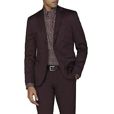 Image of Ben Sherman Australia BURGUNDY BURGUNDY COTTON JACKET