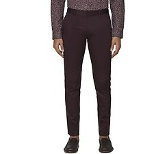 Image of Ben Sherman Australia BURGUNDY BURGUNDY COTTON TROUSER